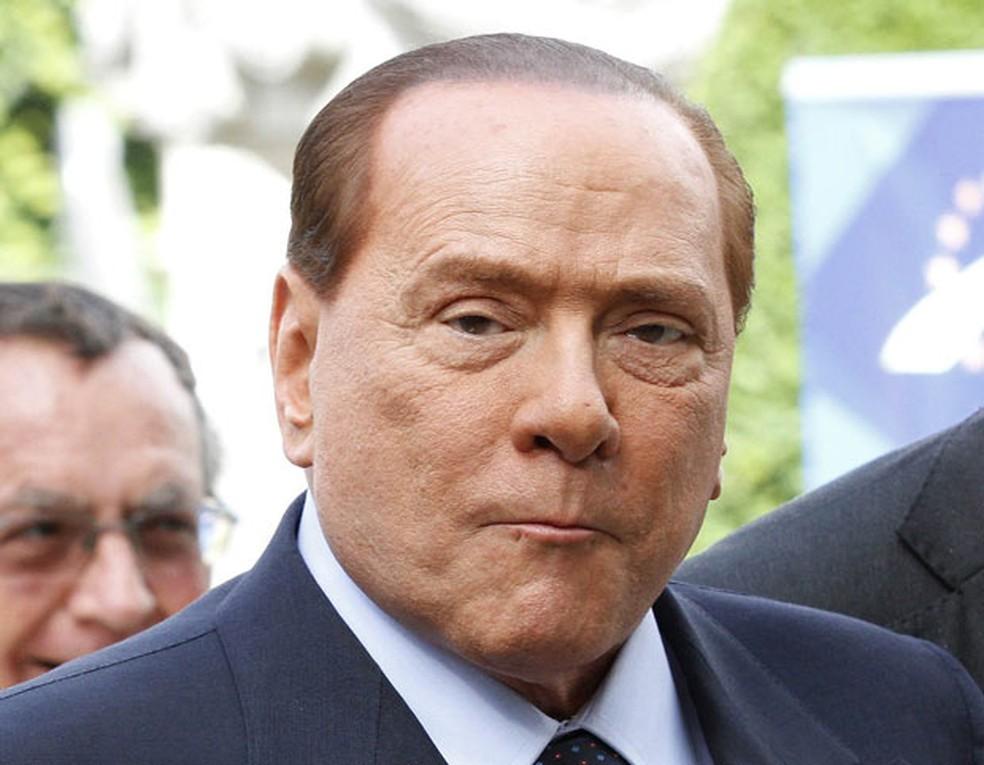 O ex-premiê italiano Silvio Berlusconi em Bruxelas, na Bélgica, em 28 de junho — Foto: AFP