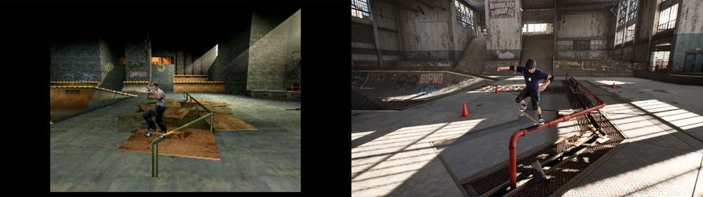 Antes e depois do Tony Hawk's Pro Skater — Foto: Divulgação/Activision
