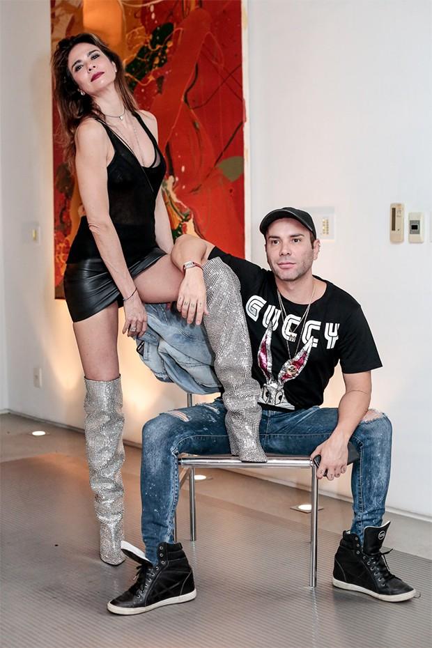 Luciana Gimenez e Matheus Mazzafera (Foto: Alexandre Virgilio e Rafael Cusato/Brazil News)