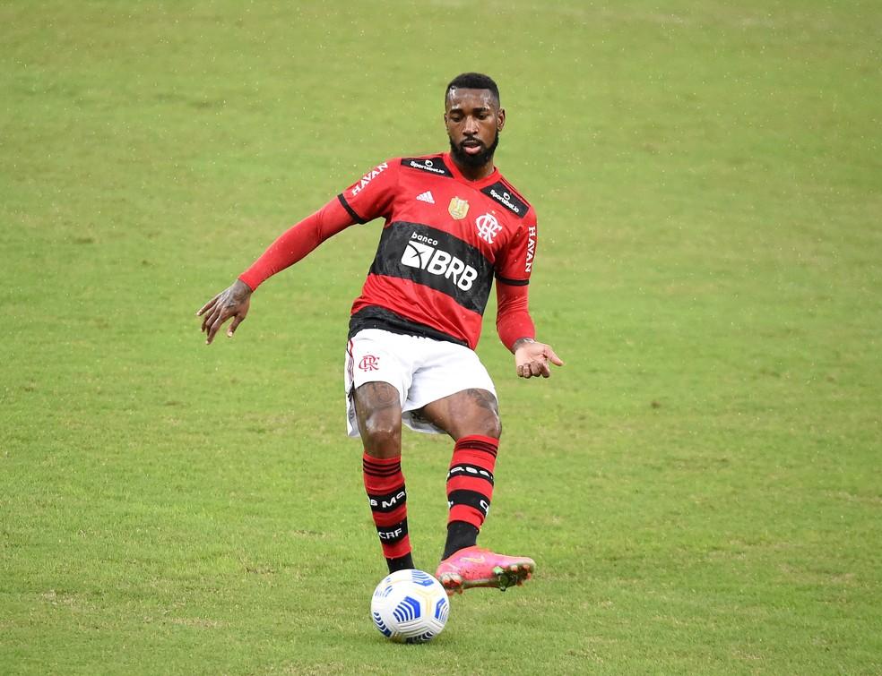 Gerson, Flamengo x Palmeiras — Foto: André Durão / ge