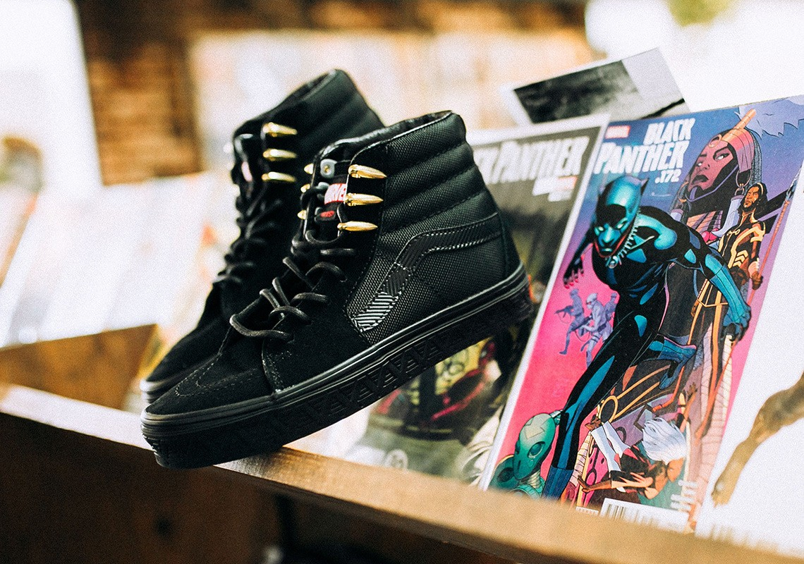 O Vans x Marvel Sk8-Hi que faz referência ao Pantera Negra (Foto: Divulgação)