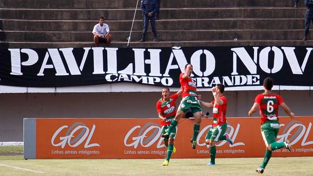 Gilberto gol Portuguesa contra Corinthians (Foto: Moisés Palácios / Futura Press)