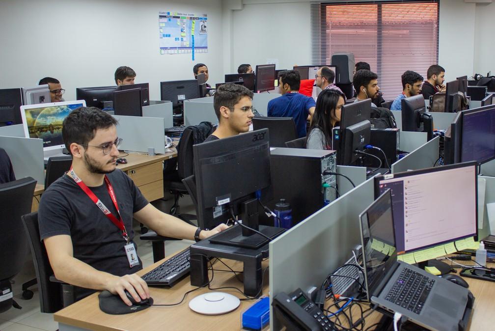 Empresas do Parque Tecnológico Metrópole Digital empregam mais de 700 pessoas. Somente a Esig (foto) tem cerca de 150 colaboradores. — Foto: Felipe Araújo