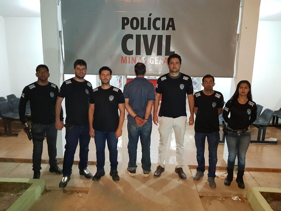 Empresário preso (Foto: Polícia Civil/ Divulgação)