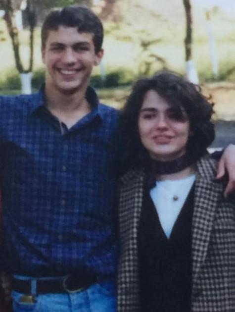 Pedro Dom e a irmã, Erika (Foto: Reprodução)