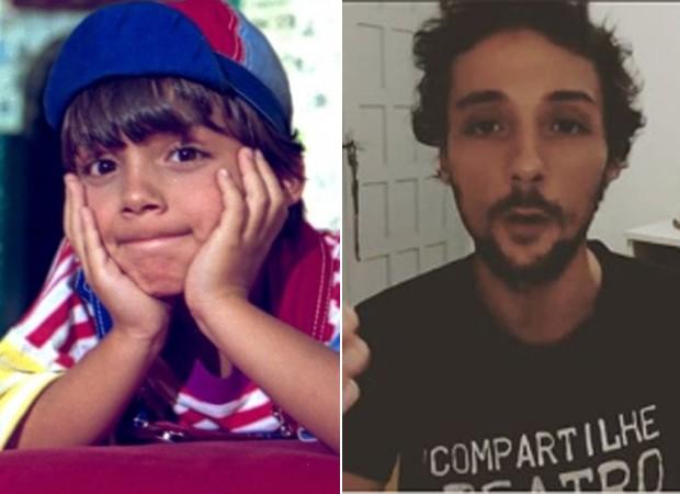 Antes e depois: Fredy Állan, famoso por ter vivido o Zequinha no Castelo Rá Tim Bum (Foto: Reprodução/Instagram)