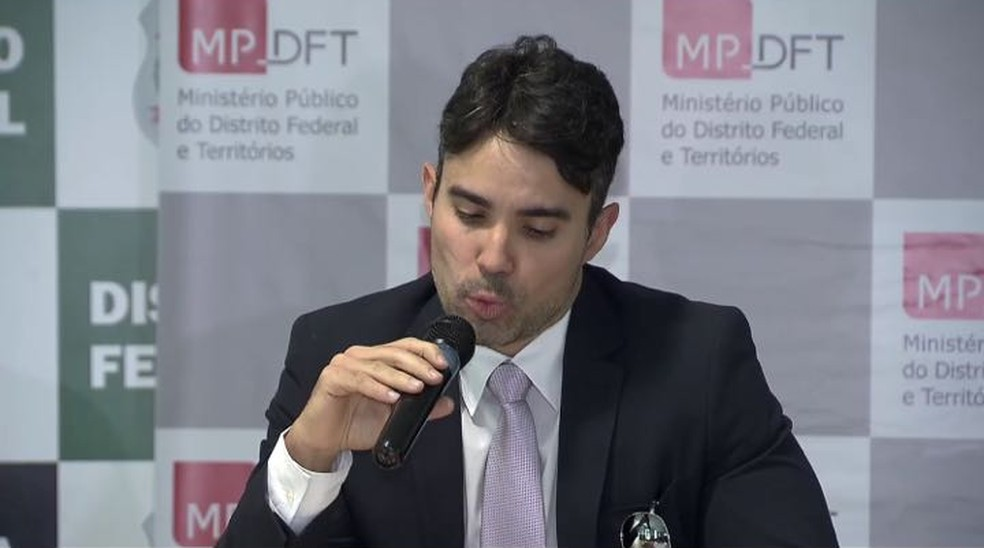 O promotor Fábio Nascimento, em entrevista (Foto: TV Globo/Reprodução)