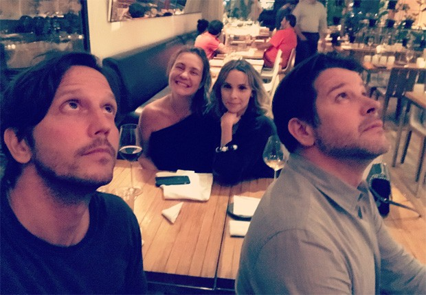Vladimir Brichta, Adriana Esteves, Débora Falabella e Murilo Benício (Foto: Reprodução/Instagram)
