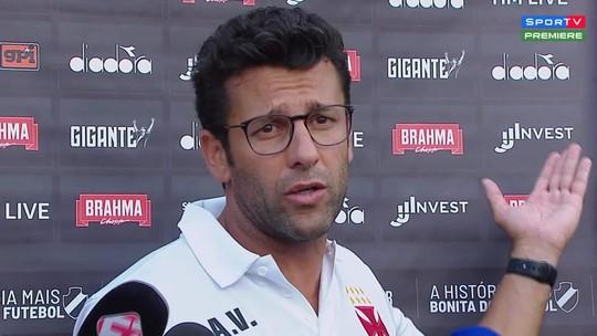 Valentim se irrita com torcedor do Madureira durante entrevista coletiva