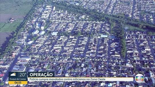 Operação mira 22 suspeitos de integrar milícia no Rio