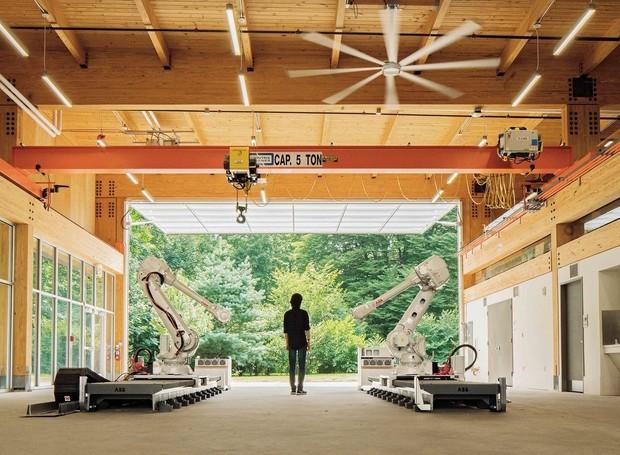 Embodied Computation Lab - um laboratório para a Universidade de Princeton, que aumenta os projetos dos estudantes de arquitetura para estudá-los mais de perto (Foto: Pablo Marvel/ Reprodução)