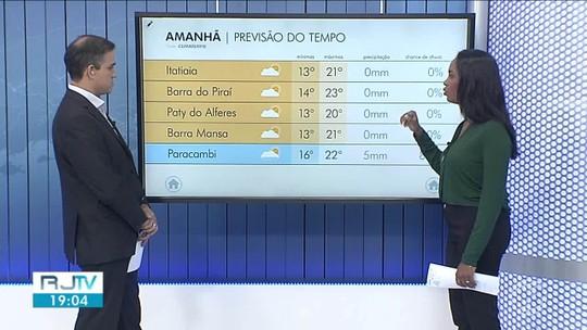 Quarta-feira será de tempo nublado no Sul do Rio de Janeiro