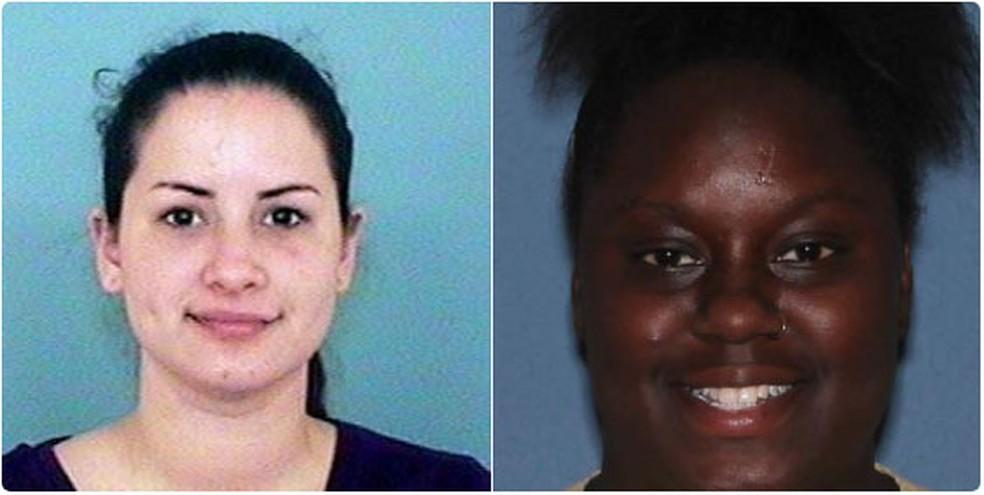 -  Gabriella Del Carmen Garcia e Fatina Saywer foram detidas em Chandler após publicação do vídeo no qual usam brinquedo sexual na frente de crianças  F