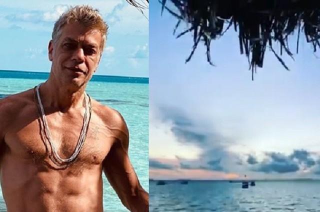 Fábio Assunção nas Maldivas (Foto: Reprodução/Instagram)