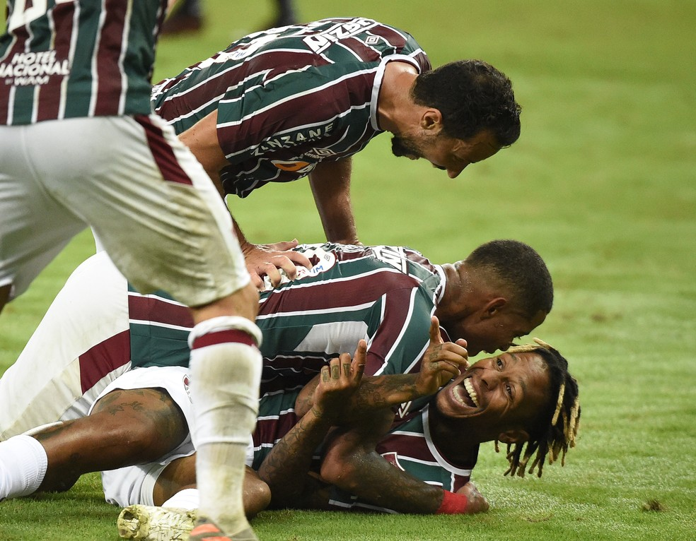 Clima no clube é apontado pelo uruguaio como um diferencial do Fluminense — Foto: André Durão / ge