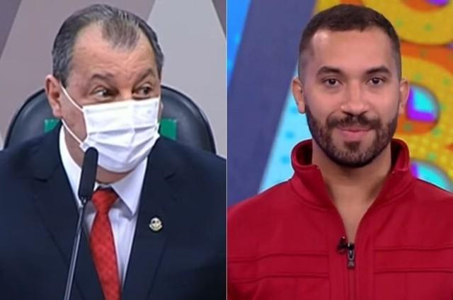 Senador Omar Aziz e Gil do Vigor  (Foto: Reprodução)