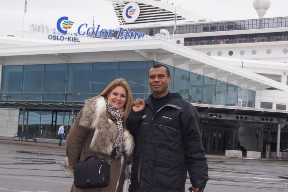 Ana Cristina Valle e Marcelo Nogueira em Oslo, na Noruega — Foto: Reprodução / Facebook