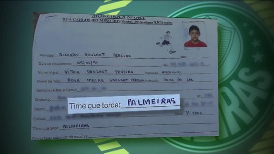 """Em ficha de escolinha de futebol, Ricardo Goulart declarou time do coração: """"Palmeiras"""""""
