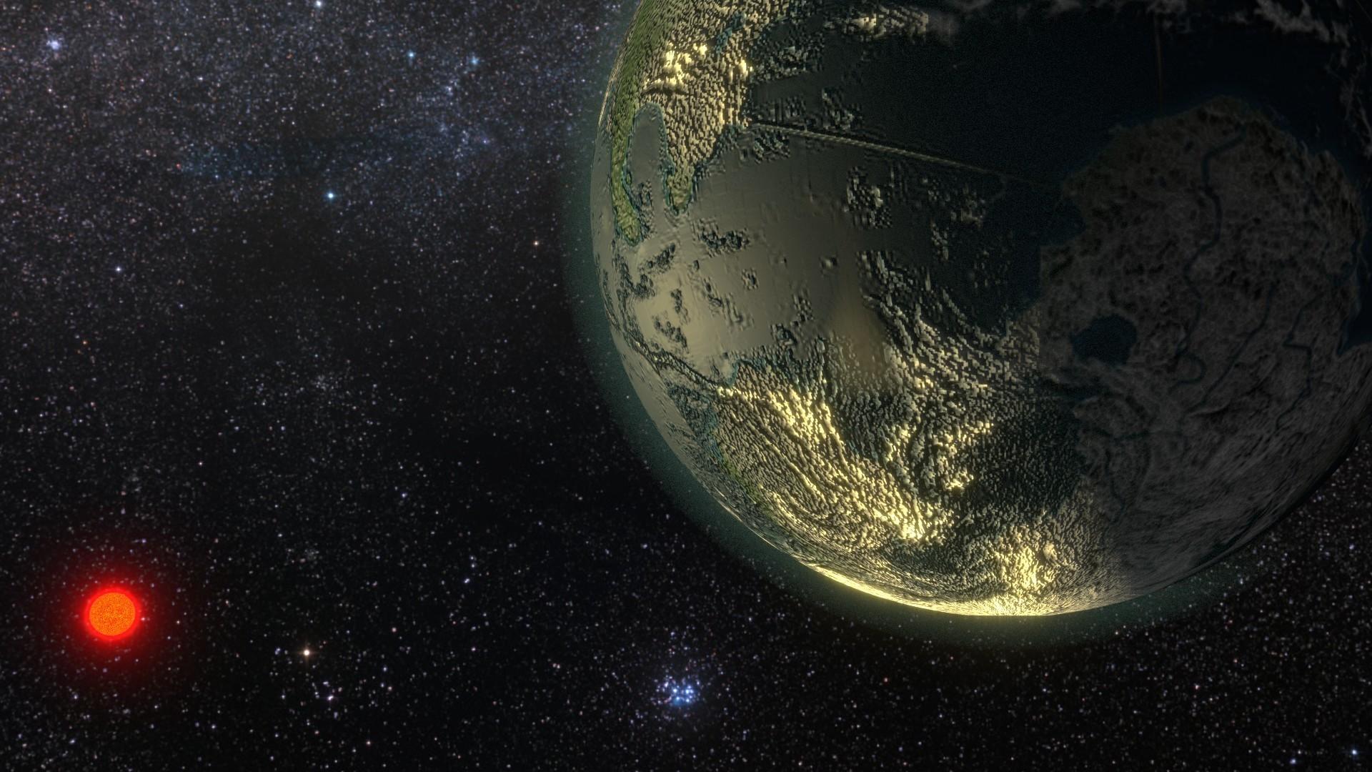 Ilustração de um exoplaneta feita pela NASA (Foto: Divulgação/NASA)