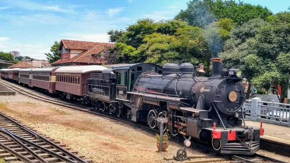 O Trem das Águas em SÂo Lourenço (MG) — Foto: Associação Brasileira de Preservação Ferroviária (ABPF)