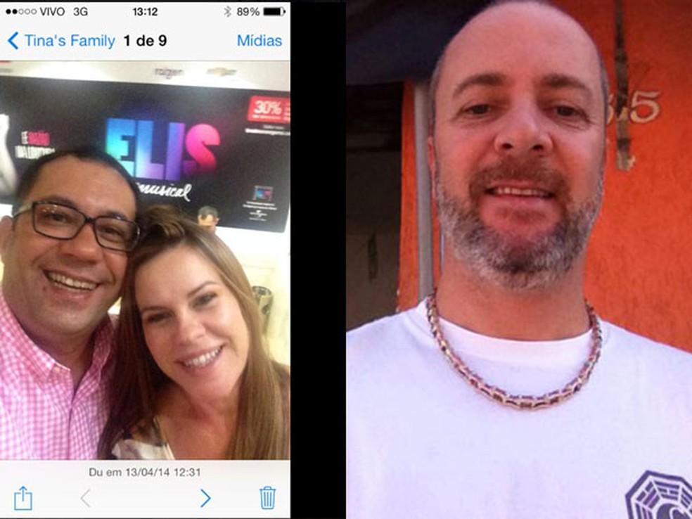 Luiz Barreto e a mulher Eliana; ao lado, foto do amante dela, Marcos Zeitunsian (Foto: Reprodução/Arquivo Pessoal/Facebook)
