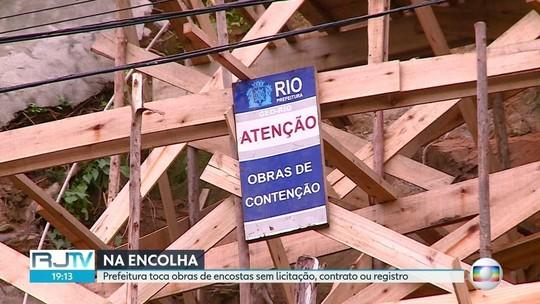 Prefeitura do Rio faz obras contra deslizamentos sem contrato