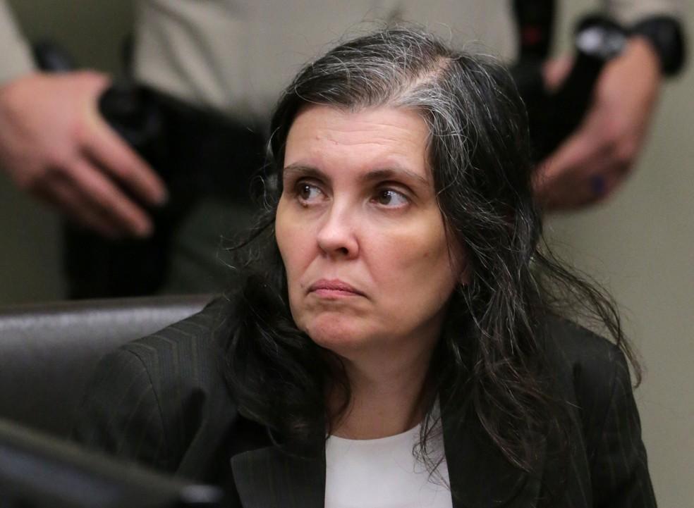 Louise Turpin participou de audiência em tribunal na Califórnia, na quinta-feira (18)  (Foto: Terry Pierson/ Reuters)