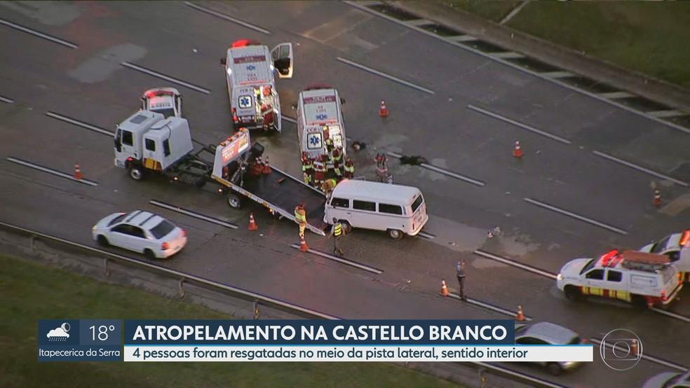 Acidente na Rodobia Castello Branco, na altura do km 18, em Osasco — Foto: Reprodução