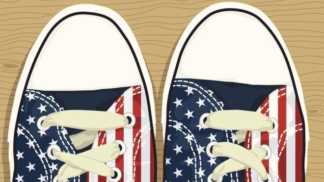 Os EUA importam quase todos seus calçados, sendo que 72% são provenientes da China (Foto: Getty Images via BBC News Brasil)