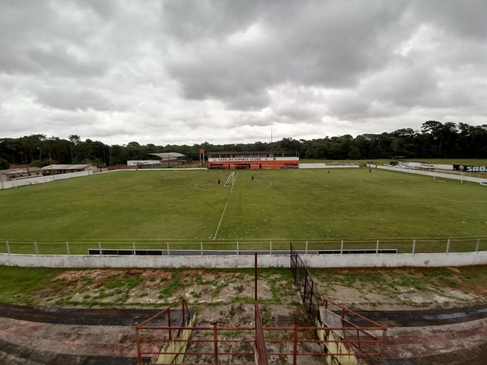 Estádio Mamazão, em Outeiro, Distrito de Belém, no Pará — Foto: Cacio Murilo/Ascom Carajás