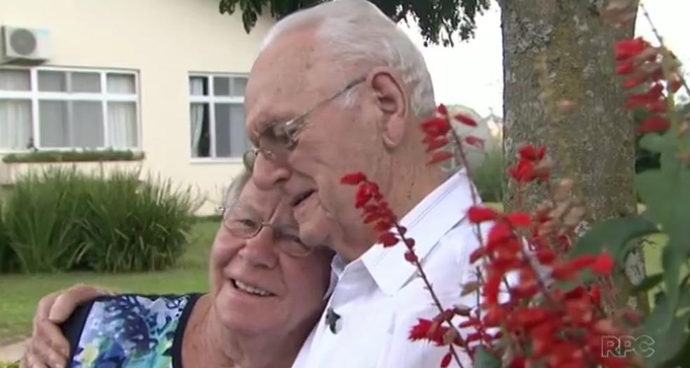 Homem vai do Paraná à Holanda para reencontrar a primeira namorada após 72 anos (Foto: Reprodução/RPC)