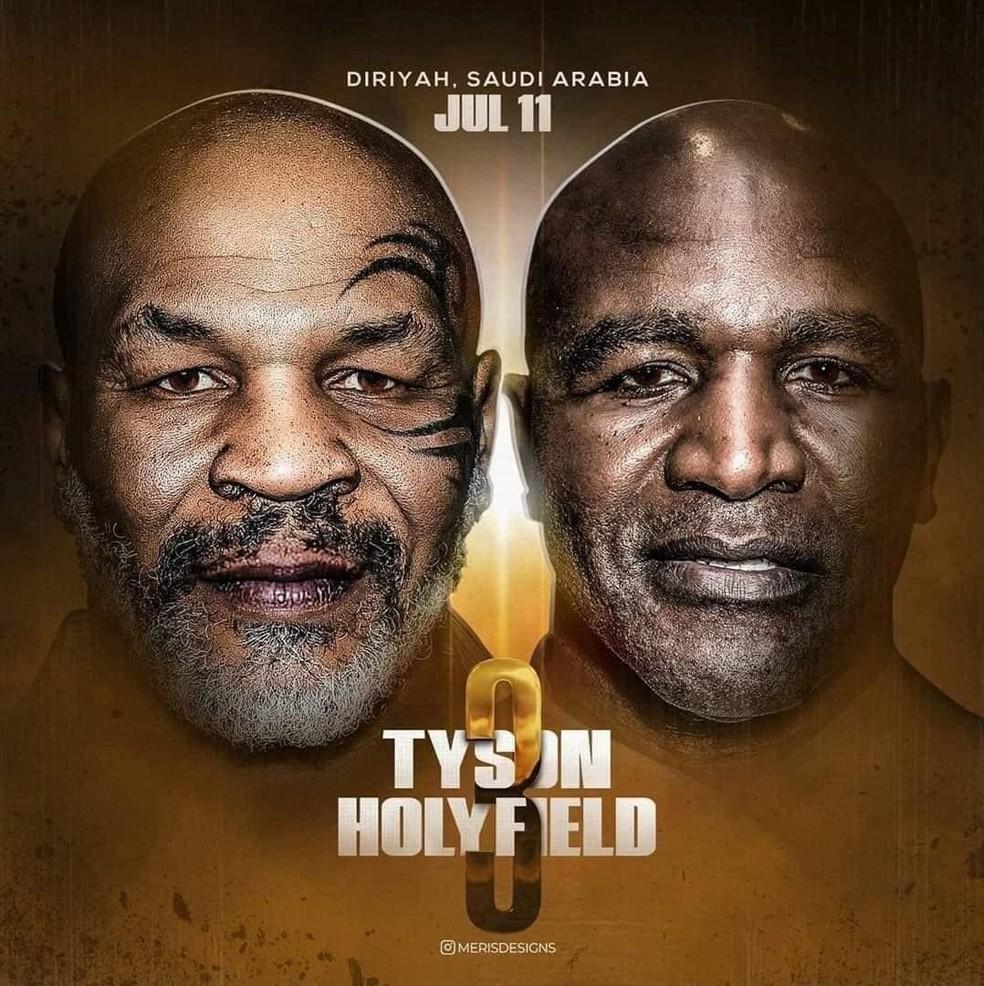 Fã cria cartaz de Tyson x Holyfield 3 no boxe — Foto: Reprodução