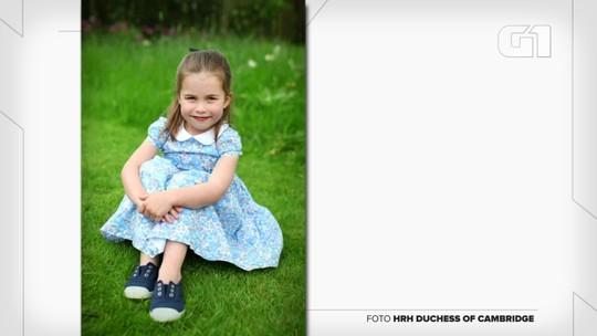 Princesa Charlotte, filha de William e Kate, faz quatro anos