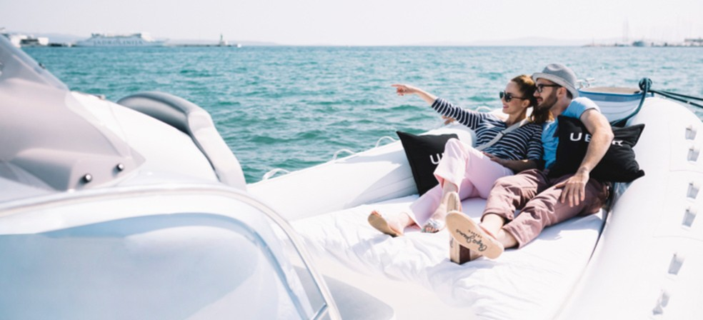 Conheça o Uber Boat, nova modalidade de transporte por barcos — Foto: Divulgação/Uber
