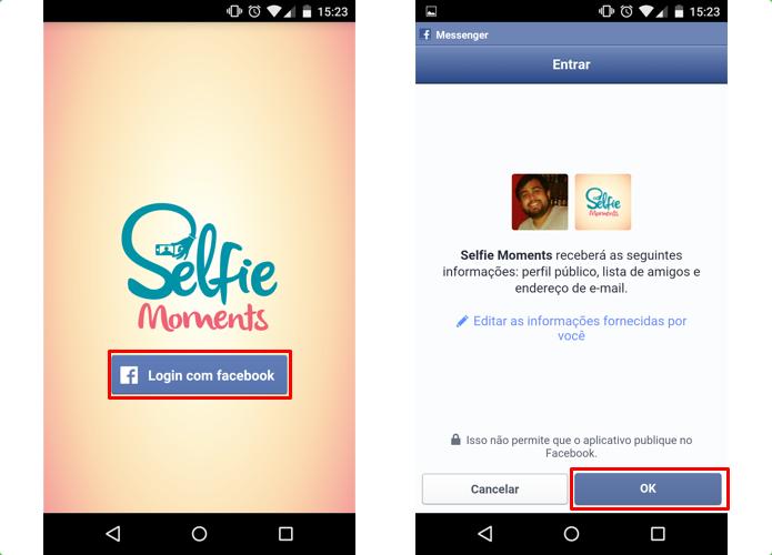 Faça login com o Facebook (Foto: Reprodução/Paulo Alves)