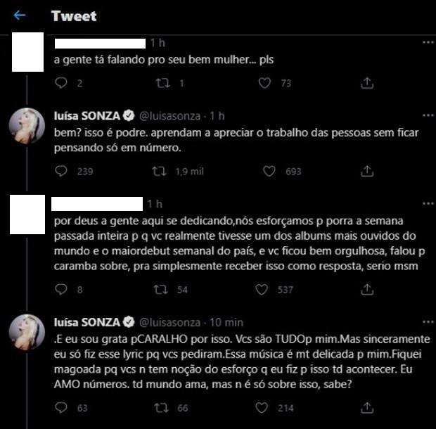Luísa Sonza rebate fãs após ser alvo de críticas ao aparecer fumando em lyric video (Foto: Reprodução/Instagram)