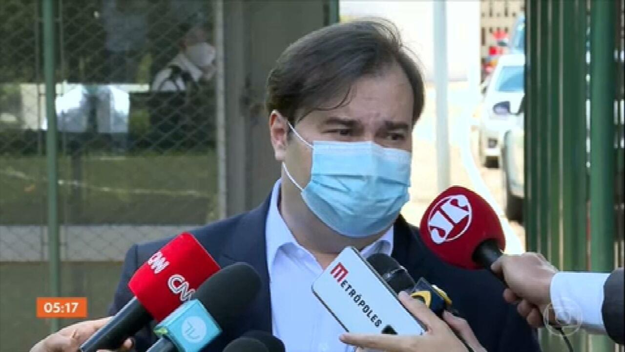 Rodrigo Maia se reúne com embaixador chinês para discutir envio de insumos para produção de vacinas