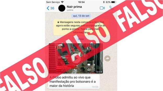 No fim de semana, houve uma guerra de versões sobre as manifestações a favor e contra Bolsonaro (Foto: BBC News Brasil)
