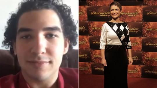 Conheça jovem autista que desenhou vestido usado por Sandra Annenberg no 'Troféu Domingão'