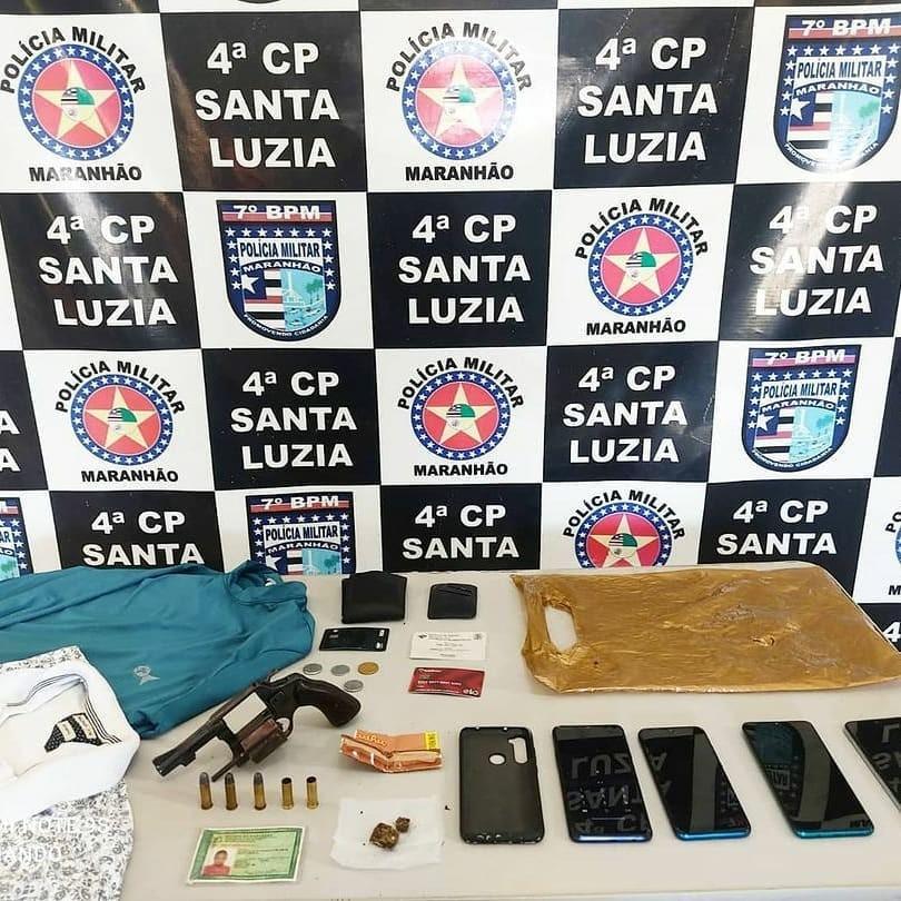 Suspeito de roubo de celulares é preso após trocar tiros com a polícia no Maranhão