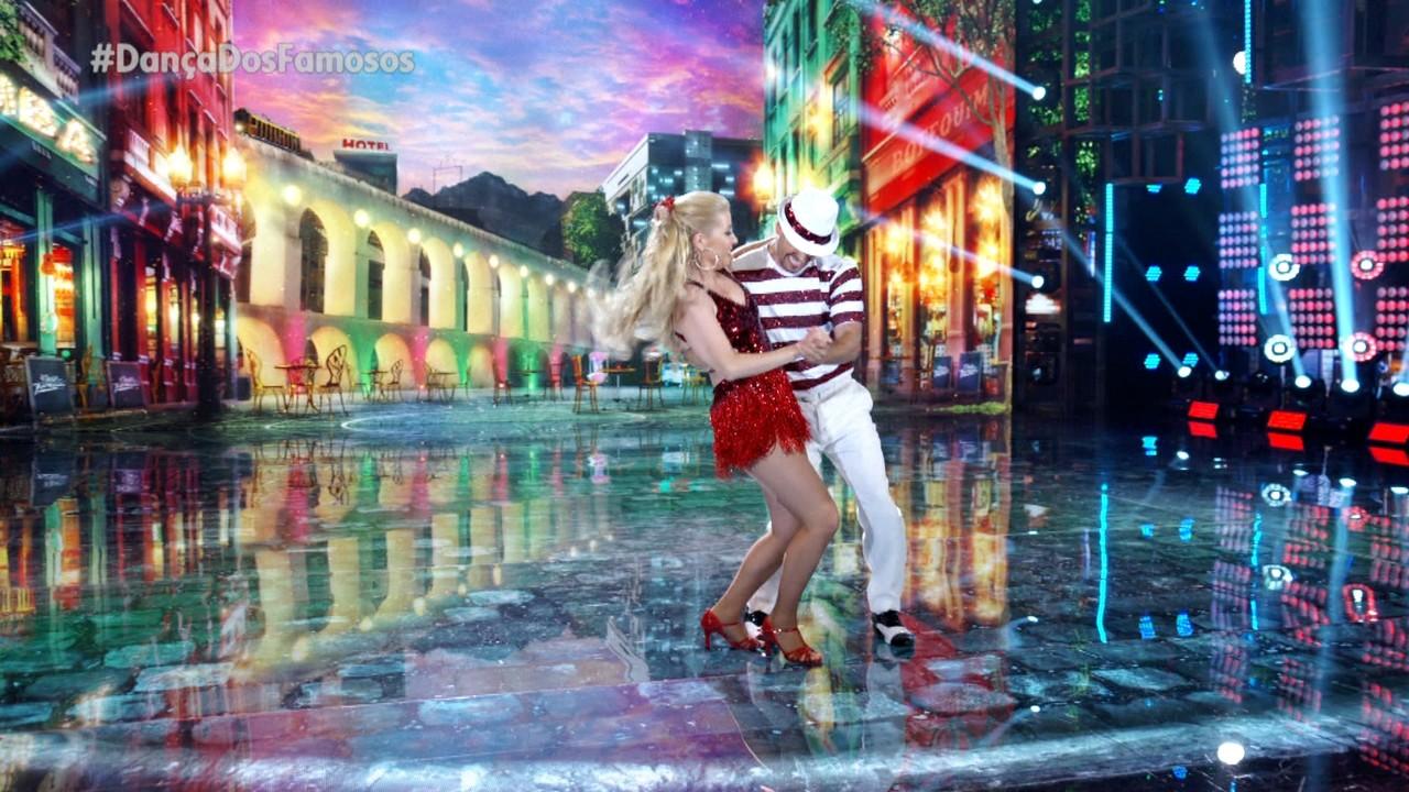 Luiza Possi e Daniel Norton encantam ao dançar samba