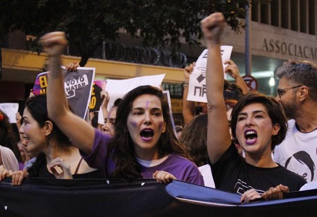 Letícia Sabatella, Tainá Müller e Fernanda Paes Leme (Foto: Wallace Barbosa/Agnews)
