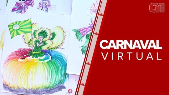 Paixão por carnaval movimenta escolas de samba virtuais que desfilam na internet; carnavalescos vão parar até no Grupo Especial do RJ