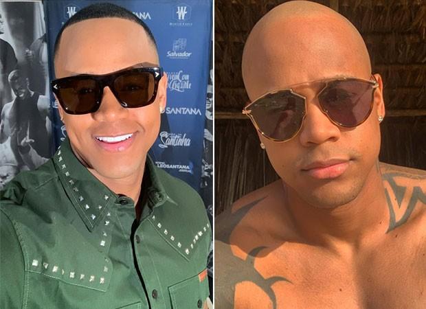 Léo Santana antes e depois (Foto: Reprodução)