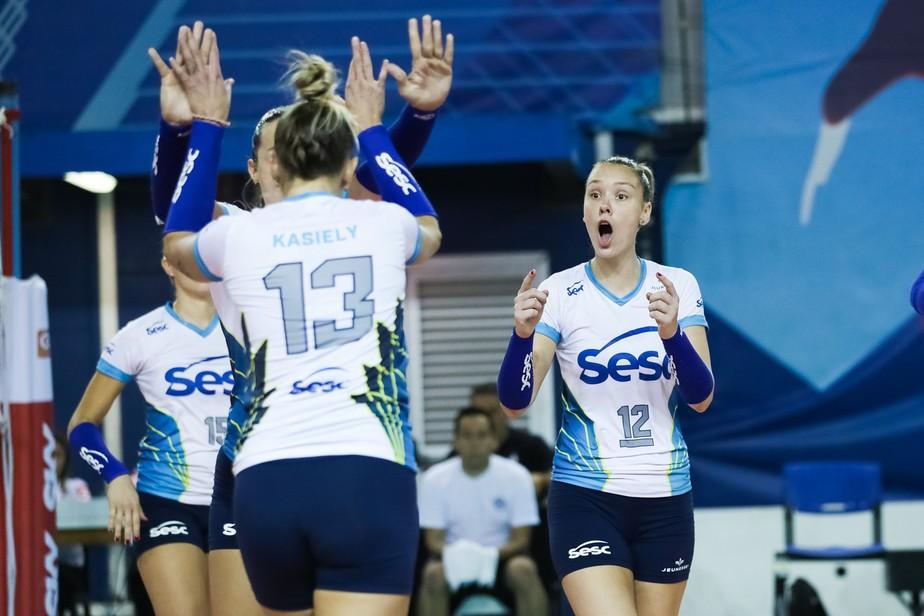 Roberta comanda, e Sesc/Rio de Janeiro vence a quinta na Superliga