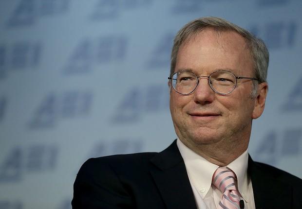 Eric Schmidt, presidente do conselho da Alphabet, empresa que controla o Google (Foto: Win McNamee/Getty Images)