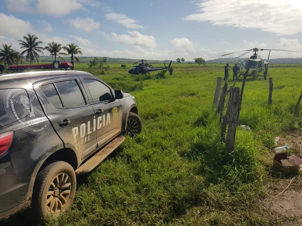 Operação foi um trabalho integrado entre as policias de Alagoas e Sergipe — Foto: Polícia Civil