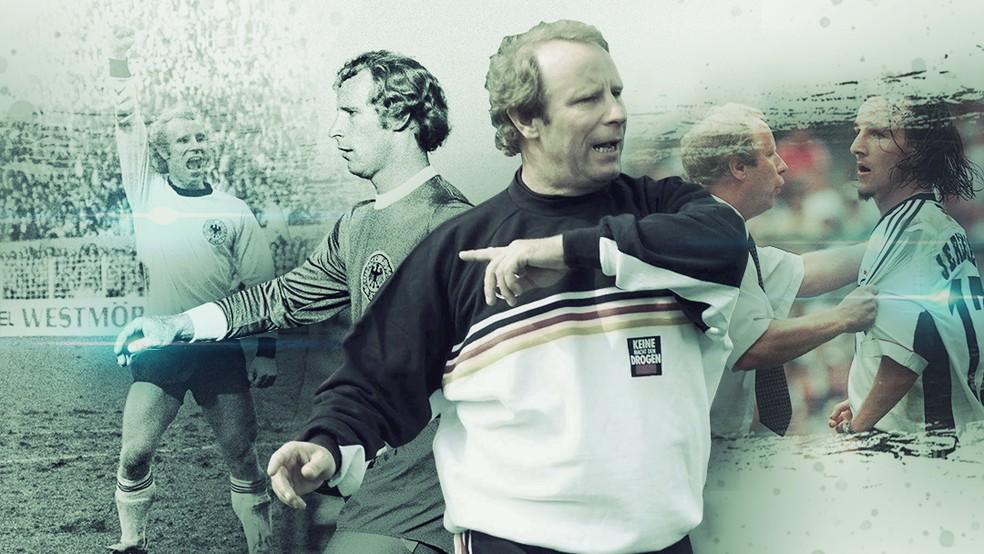 Berti Vogts é o único campeão como jogador e técnico na Eurocopa — Foto: GloboEsporte.com