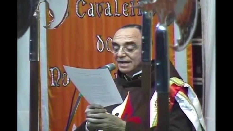 João Clá, fundador dos Arautos do Evangelho — Foto: TV Globo/Reprodução