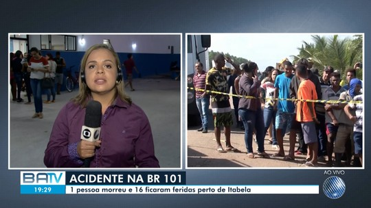 Acidente envolvendo ônibus e caminhão deixa morto e feridos em rodovia do sul da Bahia